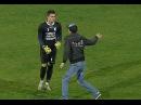 Portarul Alexandru Gudea a fost lovit de un fan in meciul Farul Dunarea Calarasi