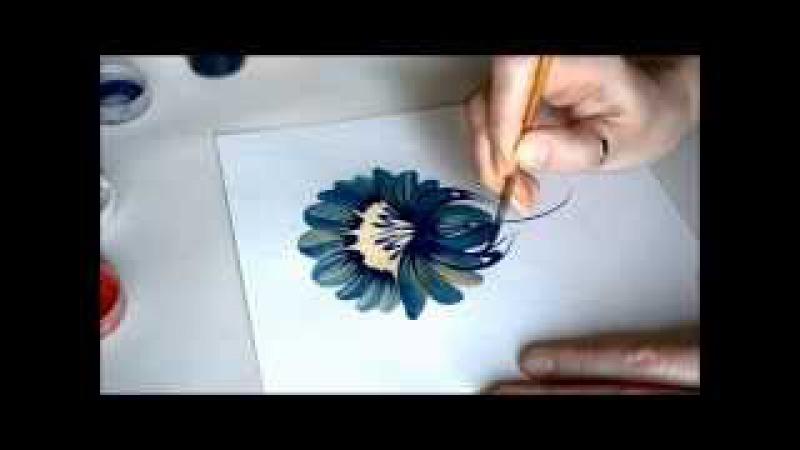 урок Петриковской росписи поэтапно цветок Petrikovka Ukraine
