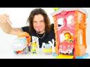 Play Doh hamuru ile yeni oyuncak itfaiye istasyonu Türkçeizle Erkekçocuk oyuncakları oyunları