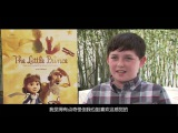 The Little Prince BTS (Mackenzie Foy, Jeff Bridges, Rachel McAdams, Riley Osborne)