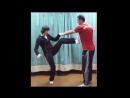 Вин Чун кунг фу урок 28 ЧУМ КИУ ТАО ЛАП САУ и удар ногой в повороте