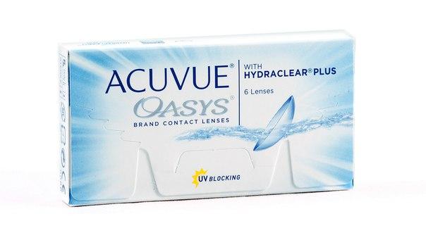 Купить контактные линзы acuvue oasys with hydraclear