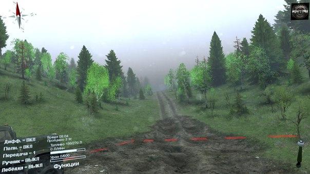Карта «Ridge» для Spintires - Скриншот 1