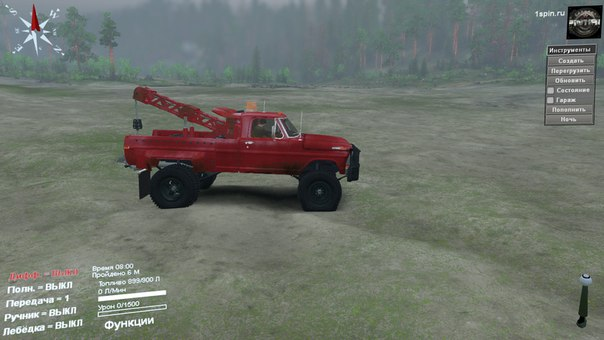 Ford Tow Truck 1970 для Spintires - Скриншот 1