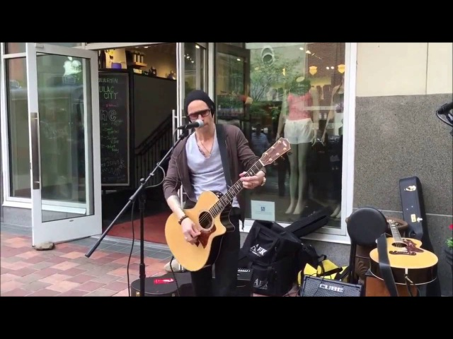 Myles Kennedy singing Watch Over You in the streets of Spokane 2016