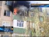 КТК: В Актау спецназовцы и пожарные спасли из пожара двоих детей