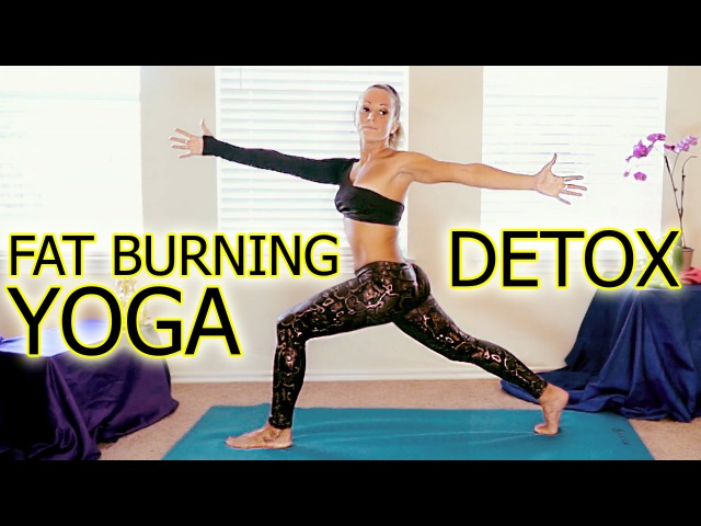 Beginners Yoga Meltdown for Detox Weight Loss Part 2, Fat Burning Workout Routine