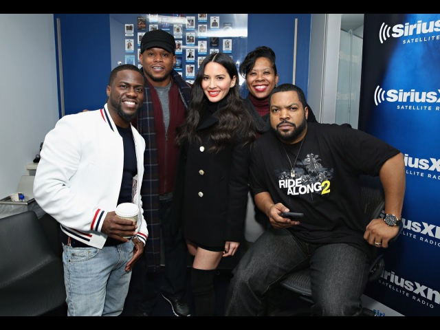 Hilarious Ride Along2 Cast Kevin Hart, Ice Cube Olivia Munn Interview Chocolate Droppa Freestyle