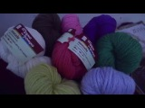 Вязание спицами. Объемная шапочка за час из пряжи АФИНА
