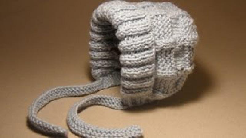 Детские шапочки крючком и спицами.№3 Шапочка для новорожденного