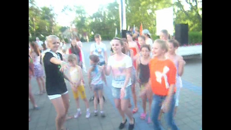 Дискотека! Хоровой фестиваль! Туапсе 2012 год. Лагерь Орлёнок