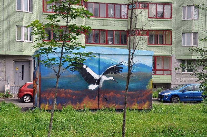 Граффити с животными появились на трансформаторных подстанциях в СВАО