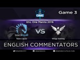 Team Liquid vs Wings Gaming, ESL One Manila 2016, Grand Finals, game 3