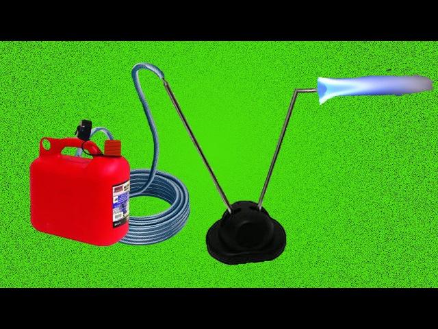 Как сделать горелку из телескопической антенны / How to make a burner from a telescopic antenna
