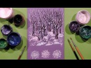 Speed Painting | Winter Landscape Greeting Card | Gouache | IOTN