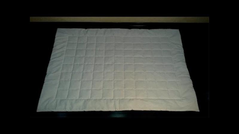 Как сшить детское стёганое одеяло - МК How to sew a baby quilt - DIY