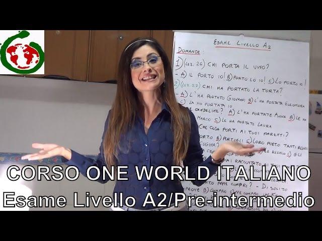 OWI - Esame di italiano livello A2 (Pre-intermedio)