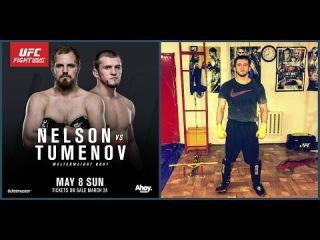 Albert 'Einstein' Tumenov preparing for Gunnar Nelson at UFC Fight Night 87 in Rotterdam
