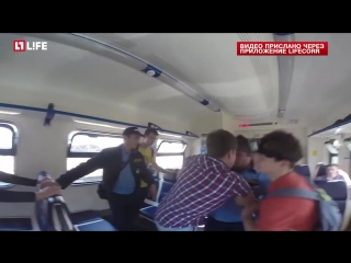 В Подмосковье охранник напал на пассажира в электричке (28.05.2016)