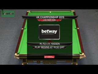 Marco Fu v Hatem Yassen UK Championship 2015