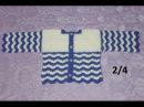 Кофточка крючком на малыша 6 месяцев Часть 2 4 полочки и спинка