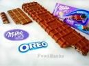 DIY - Гигантская шоколадка МИЛКА ОРЕО / Milka Oreo giant Chocolate bar English subtitles