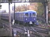 Вагоны метро Ем или Еж на станции Выхино. Москва. 2000 г.