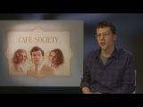 Cafe Society kooky Jesse Eisenberg likes interviewer James's shoes!