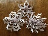 Как сделать объемную снежинку из бумаги. 3D.