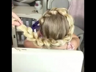 прическа детская (коса ободок)