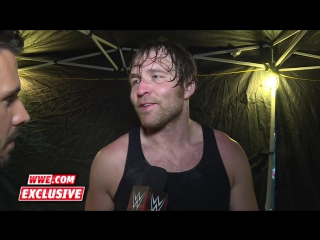 Who does Dean Ambrose credit for helping him win the WWE World Heavyweight Title_ June 19, 2016