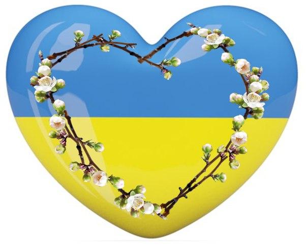 серце жовто-блакитне картинки