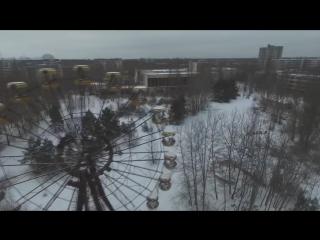 Припять с высоты птичьего полета Зима Снято дроном