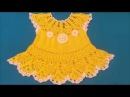 How to crochet a baby dress / Tutorial: Crochet Baby Dress