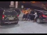 LiveLeak - Gang of armed kids Carjack couple at fuel station