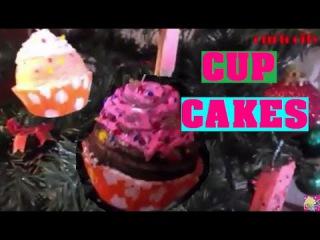 COMO HACER CUP CAKES //ADORNOS NAVIDEÑOS