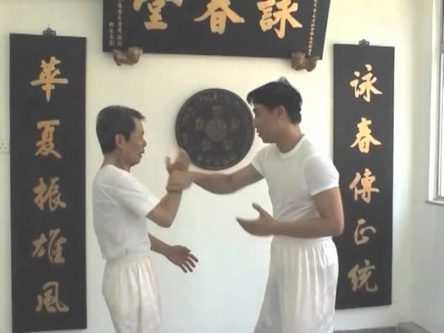 詠春吳華森 Wing Chun Sifu Ng Wah Sum sticky hand practic with student Sifu Dr Wilfred Lam