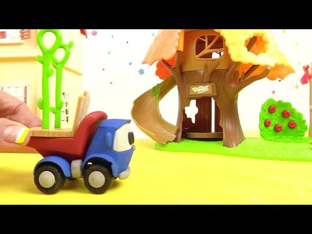 Léo le camion curieux léolecamion construit une AIRE DE JEUX Dessin animé dessinanimé educatif