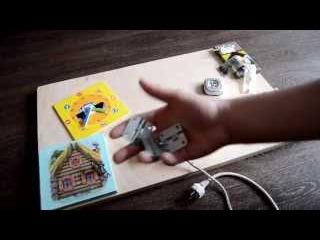 БизиБорд игровой развивающая стенд своими руками (Часть 1)