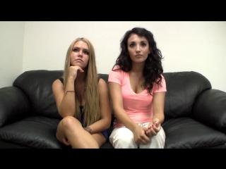 Две подружки пришли на порно кастинг
