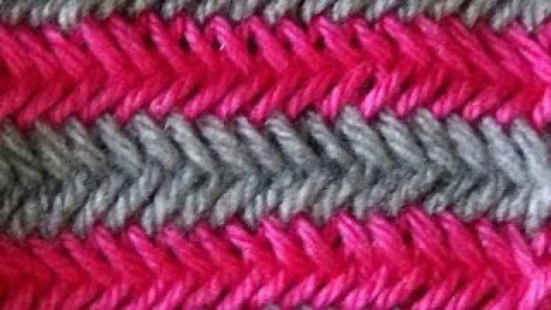 Cómo Tejer PUNTO ESPIGA en COLORES - Herringbone Stitch 2 agujas (324)