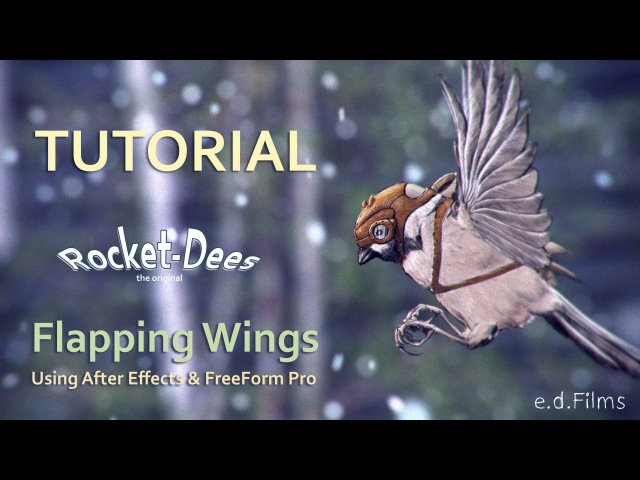 How To Animate a Flying Rocket-Dee with Adobe After Effects | Build the Wings Animation Tutorial