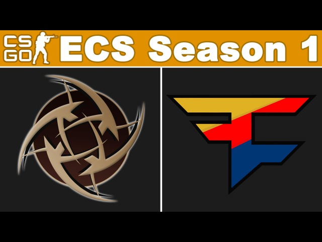 NiP vs FaZe - ECS Season 1 - BO3 - map2 - de_mirage - Ninjas in pyjamas vs FaZe Clan