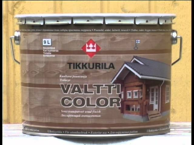 Защита деревянных фасадов антисептиков Тиккурила