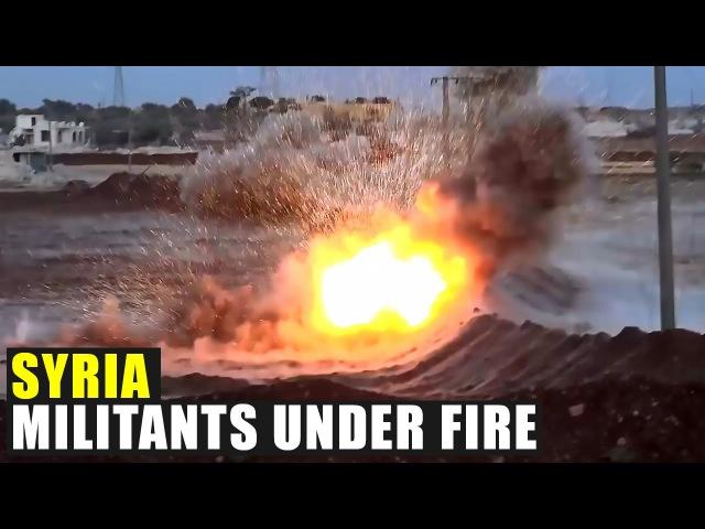 Боевиков накрыла артиллерия САА в Маллаха Militians under artilleries of Syrian Army in Mallaha