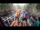 Сплав на деревянных плотах по реке Карповка первопрохождение