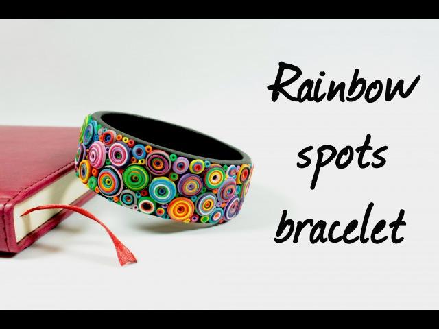 Браслет с радужными кругами ∗ Rainbow spots bracelet ∗ Мастер-класс ∗ Tutorial