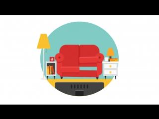 Моушн-дизайн диван