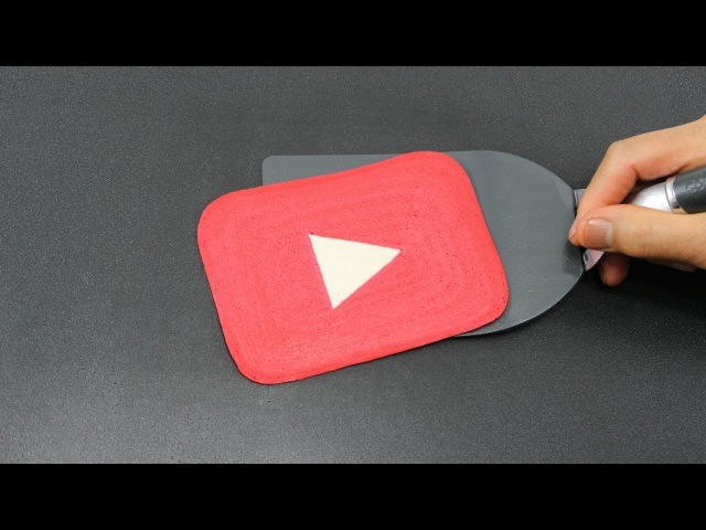 Pancake Art - YouTube Play Button by Tiger Tomato