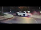 BMW M5 F10  DRIFT  BURN OUT  DONUTS  White Beauty